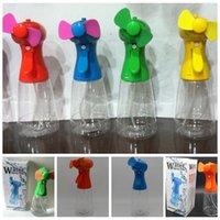 soğutma sis fanları toptan satış-Taşınabilir Mini El Düzenlenen Su Püskürtme Soğutma Fanı Mist Spor Plaj Kampı Seyahat Hayranları Outrdoor Alet LJJO5184