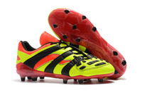 Wholesale soccer cleats for sale - 2018 Soccer Boots Predator Accelerator Electricity FG Classic Football Boots Soccer Cleats Size US6 US11