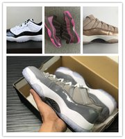 Wholesale Cracks Shoes - Men basketball shoes 11 low GS Easter Women 11S Rose Gold Cool Grey Black powder explosion crack sneakers