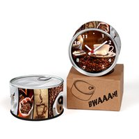Wholesale coffee wall clock - Only 6-10 Days Arrive To USA By E-Packet Air Shipping 2pcs lot Coffee Desk Clock Drink Design Fridge Magnets Wall Clock Gifts