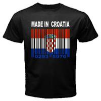 горячие флаги стран оптовых-СДЕЛАНО В ХОРВАТИИ Флаг Хорватии Хорватский Страна Страна ТАМОЖЕННЫЕ ШТАТНЫЕ НОМЕРА Футболка Y79 футболка горячая новая мода топ бесплатная доставка