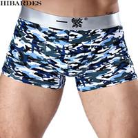 Wholesale men underwear boxer silk - Wholesale-4 piece men's boxer shorts Brand Ice silk men comfortable cueca masculina underwear