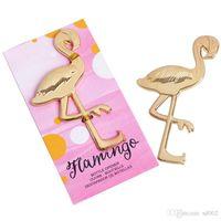 Wholesale aluminum shovels resale online - Flamingo Bottle Opener Wedding Style Gift Shovel Key Fashion Party Supplies Metal Beer Openers Practical Kitchen Tools wl ZZ