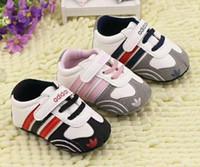 chaussures de coton pour bébé nouveau-né achat en gros de-2018 nouveau bébé chaussures marque premiers marcheurs infantile coton tissu bébé fille chaussures à semelle souple chaussures nouveau-né bébé garçons chaussures