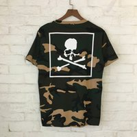 Wholesale panel shirt - 2018 Summer Mastermind Japan MMJ Skull Print Women Men T shirts tees Hiphop Streetwear Men Cotton T shirt MMJ