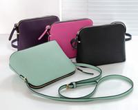 bolsos femeninos hombro pequeño al por mayor-Diseñador de la marca de Las Mujeres de Cuero de LA PU Bolso de Hombro Femenino Crossbody Shell Bags Moda Pequeño Bolso Mensajero Bolsos
