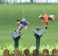 argila do pássaro venda por atacado-Pássaros De Energia Solar Brinquedos Para O Jardim Quintal Decorações de Vibração Novidade Dança Voar Vibrando Falso Beija-flor Brinquedo Crianças Favor 9lla ZZ