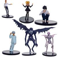 Wholesale rem anime for sale - 6pcs set Anime Death Note L Killer Ryuuku Rem Misa Amane PVC Action Figure Juguetes Collection Model Doll Kids Toys