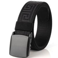 ingrosso cinture tattiche-3.8CM uomini e donne sottili Cintura di tela Moda POM cintura fibbia automatica per le donne Equipaggiamento esterno Tattiche di fan
