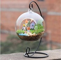 Wholesale hanging glass globe terrarium for sale - Group buy Ornament Display Stand Iron Hanging Stand Rack Holder for Hanging Glass Globe Air Plant Terrarium Witch Ball and Wedding Home decor
