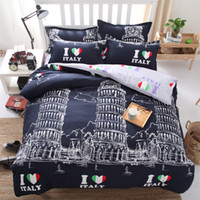 Wholesale Christmas Duvet Cover Full - Italian architecture luxury soft bedding christmas Light color series Forest 3 4pc Bedding Set king queen full twin size duvet cover