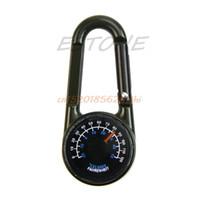 Wholesale Mini Compass Keychain - 1PC Multifunctional Hiking Metal Carabiner Mini Compass Thermometer Keychain