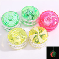 Wholesale friction light for sale - Creative Light Up Finger Spinning YoYo Children Toy Gift Multi Color Plastic LED YoYo Hot Sale zp C R