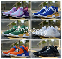Wholesale blank fabrics - 2018 New Human Race TR Men Women Running Shoes Pharrell Williams Holi Blank Nmds Human Races Mens Trainers Sports Sneakers Size 36-45