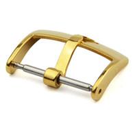 18 mm altın toptan satış-ROL Toka Gruplar Gümüş Pembe Altın Watch Band Kayışı Pim Toka 16mm 18mm 20mm Spor Relojes Hombre Watchband saat kayışı ROL104 Cilalı