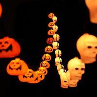 ingrosso luci d'arco arancione-Halloween 5M 20 LED Pumpkin LED String Light AC220V Orange Pumpkin Lights Decorazioni natalizie Lanterne Light