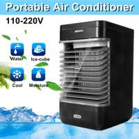 leiser lüfter großhandel-110 v / 220 v Klimaanlage Kühler 2-gang Feuchtigkeit Ruhiger Ventilator US / Eu-stecker ABS Luftbefeuchter Luftreiniger Tragbare Home Cooling Flow Filter