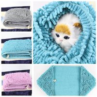 Wholesale Fast Dogs - Fast Drying Pet Bath Towel Absorbent Microfiber Pet Dog Towel Drying Towels Pet Bath Towels Hypoallergenic Chemical 35*60cm KKA4521