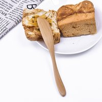 Wholesale butter spreader for sale - Group buy Wooden Cutlery Butter Knife Kitchen Tool Cheese Dessert Jam Spreader Breakfast Tool New CM Japanese Style Tableware Butter Knives
