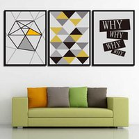 Wholesale mirrored panels for wall - Print Painting Modern Minimalist Poster Abstract Geometry Nordic Style Canvas Art HD Wall Pictures For Home Wedding Decoration