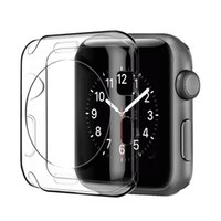 Wholesale apple watch case for sale - 38mm mm Slim Transparent Crystal Clear Soft TPU Rubber Flexible Lightweight Protective Cover Case For Apple Watch iWatch Series