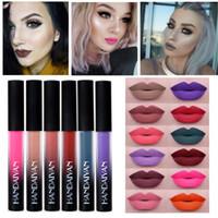 nackte stifte großhandel-Handaiyan matte lippenstift 12 farben liquid lippenstift samt flüssigen lippenstift wasserdicht langlebig lippenstift nude gloss