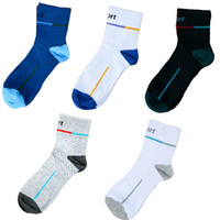 Wholesale Professional Workout - 20pair Lot Athletic Basketball Socks Crew Professional Sports Cushioned Workout Socks Comfort Breathable Fitness Socks Free DHL G509S