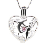 Wholesale Easter Baby Gifts - Mother's Day Theme 3pcs 925 Sterling Silver Mother and Baby Cage Pendants, 19.8*16*9.8mm, Free Shipping