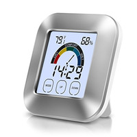 Wholesale Indoor Timers - Digital Thermometer Hygrometer Indoor Thermometer Humidity Monitor with Touchscreen Backlight Smart Thermometer Humidity Gauge Timer Alarm