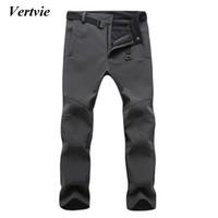 Wholesale Boys Waterproof Trousers - Wholesale- Vertvie Sports Pants For Men Snowobile Skiing Trousers For Men Winter Ski Pants For The Boy Snow Ice Skating Pants Sportswear