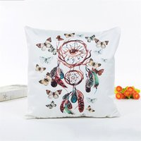 Wholesale satin silk cushions for sale - Group buy Cute Cushion Covers Print Silks And Satin Pillow Case Dream Catcher Pattern Home Decor Pillowslip Hot Sale xa ii
