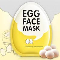 mascarilla iluminadora al por mayor-BIOAQUA Máscaras faciales de huevo Control de aceite Brillo Máscara envuelta Máscara facial hidratante tierna Máscara hidratante para el cuidado de la piel 2018 Nuevo