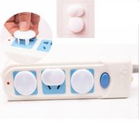 Wholesale wholesale outlet covers - Electrical Power Outlet Socket Lock Cover Cap Anti Electric Shock Guard baby anti-electric Household Sundries AAA505