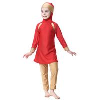 Wholesale swimwear children for girl for sale - Two Piece Suit Muslim swimwear Islamic swimsuit Children s traditional clothes for children girl Arab Muslim Swimwear