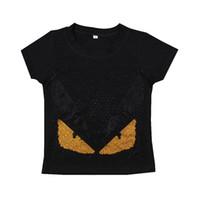 ingrosso ragazzi al dettaglio-Vendita al dettaglio Ragazzi T-Shirt Maglietta del bambino di estate Cotone di alta qualità Nuovo bambino Maglietta Ragazzi Wear Maglietta del manicotto T-Shirt Nero Panno per bambini
