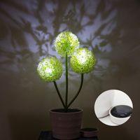 ingrosso fiori di giardino solare potenza-Lampada da giardino a energia solare 3 LED a forma di cortile con illuminazione a LED per esterni con illuminazione a LED