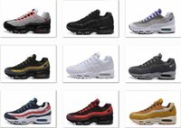 Wholesale Patchwork Cushions - Drop Shipping Wholesale Running Shoes Men Air Cushion 95 OG Sneakers Boots Authentic 95s New Walking Discount Sports Shoes Size 40-45