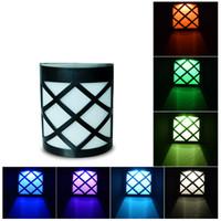 ingrosso interruttore sensore impermeabile-Lanterna Mabor Solare Luci Interruttore Sensore RGB Colorato Impermeabile Parete Recinzione Luce pannelli solari RGB Colorful Wall Fence Light Outdoor