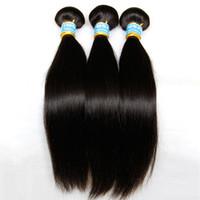 freies verschiffen peruanisches menschenhaar großhandel-Peruanische Reine Haar Gerade 3/4 Stücke Unverarbeitete 8A Peruanische Remy Menschenhaarverlängerungen Günstige Peruanische Haarwebart Bundles Kostenloser Versand