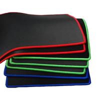 ingrosso stuoia verde del mouse-Mouse pad piccolo di medie dimensioni Nero / Blu / Rosso / Verde Tappetino per il mouse Tappetino per laptop Tappetino per mouse per tappetino per Dota 2 CS go