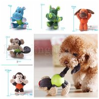 Wholesale wholesale plush puppies - Dog Durable Squeaky Plush Toy Pet Training Biting Squeak Chew Toys for Small Dogs Puppy Teething Chew Toys KKA5504
