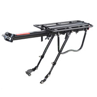 Wholesale rear bike racks online - Good deal Black Bike Bicycle Quick Release Luggage Seat Post Pannier Carrier Rear Rack Fender X X CM
