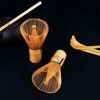 herramientas de té de bambú al por mayor-Moda caliente de bambú natural Chasen Matcha batidor preparación para el polvo de té verde Chasen cepillo herramienta para Matcha nueva