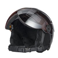 Wholesale Black Helmet Cover - High Quality Integrally Ski Helmet With Goggle Half-covered Skiing Helmet Goggles CE Outdoor Sports Snowboard Black