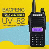 Wholesale baofeng dual band uhf vhf online - BAOFENG UV VHF UHF Dual Band MHz PTT W Two Way Radio by DHL