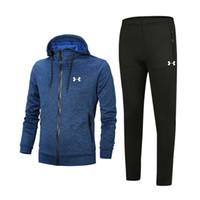 tasarımcı spor takımları toptan satış-Adam için tasarımcı Eşofman İyi Sürüm Bahar Sonbahar MensTracksuits Baskı Fermuar Suit Tops + Pantolon Erkek Lüks Rahat Kazak Spor Suits