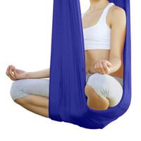 ingrosso swing yoga anti gravità-5M Elastico antigravitazionale Multifunzionale Fly Antenna Yoga Hammock Swing Belt Tessuto dispositivo di trazione aerea Set di amache per yoga