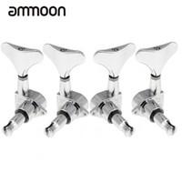 bass-stimmköpfe großhandel-Hohe Qualität 4 Chrom Versiegelt Gitarre Stimmwirbel Mechaniken für Bass Gitarre 2L + 2R