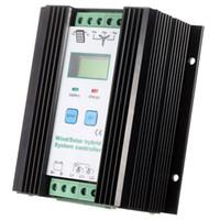 ingrosso ibrido solare-Freeshipping Wind Solar Hybrid PWM Controller (600W Wind + 400W Solar) 12V / 24V Automatic