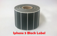 67mm*79mm black Blank adhesive thermal sticker label transfer shipping label paper 300pcs per roll use on ribbon printer for iPhone5s